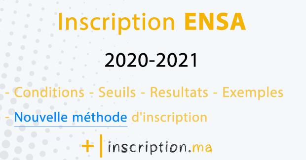 inscription concours ENSA 2020-2021 Maroc